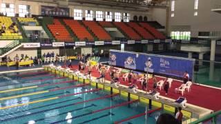 104年高雄全國運動會 游泳男子組 50公尺蛙式決賽 破全國紀錄