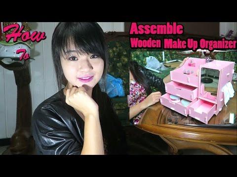 Cute (Kawaii) Wooden Makeup Organizer