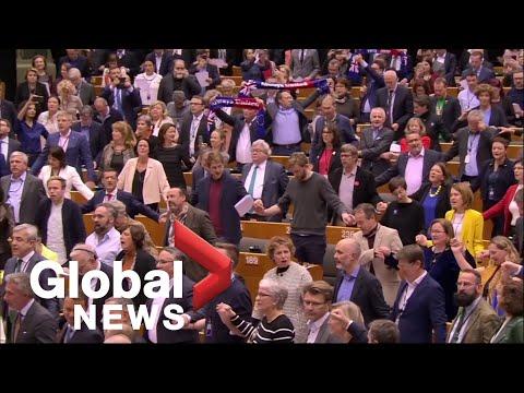 European Parliament Members Sing 'Auld Lang Syne' After Ratifying U.K. Brexit Deal