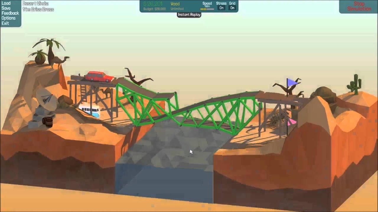 poly bridge desert winds 14m criss cross solution youtube. Black Bedroom Furniture Sets. Home Design Ideas
