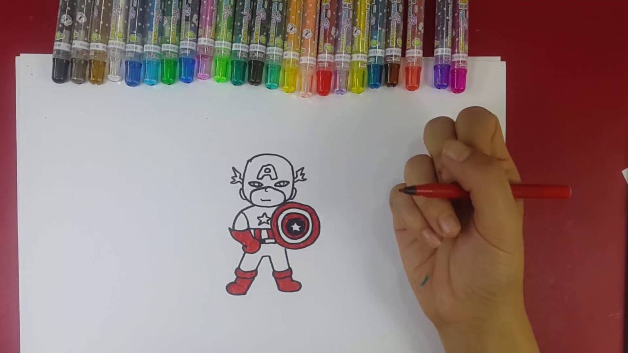Download How to draw Captain America essy for kids.