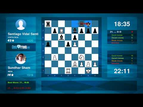 Chess Game Analysis: Sundhar Sham - Santiago Vidal Santi : 1-0 (By ChessFriends.com)