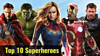 MCU Top 10 Superheroes Explained In HINDI | Most Powerful Superheroes of MCU Explained In HINDI |MCU