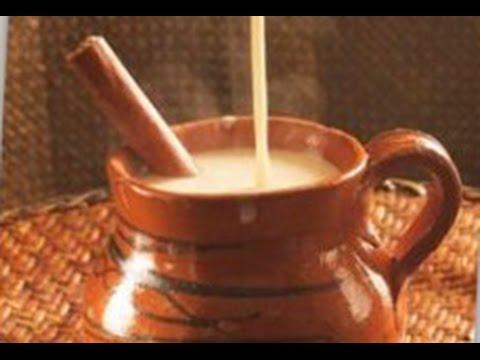 Bebida caliente,  alta en proteína.  Atole de garbanzos germinados.