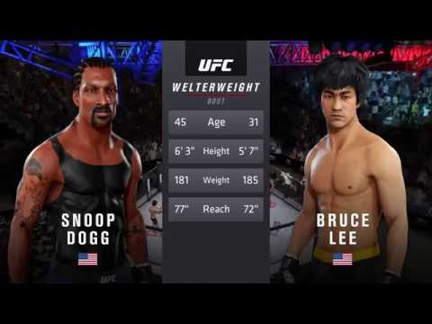 Snoop Dogg vs. Bruce Lee (EA Sports UFC 3) - CPU vs. CPU