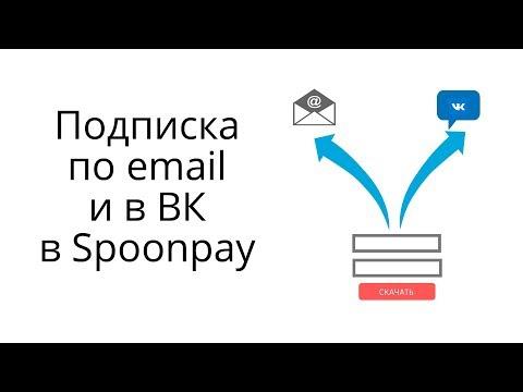 Два варианта подписки на Spoonpay - через Email и ВК