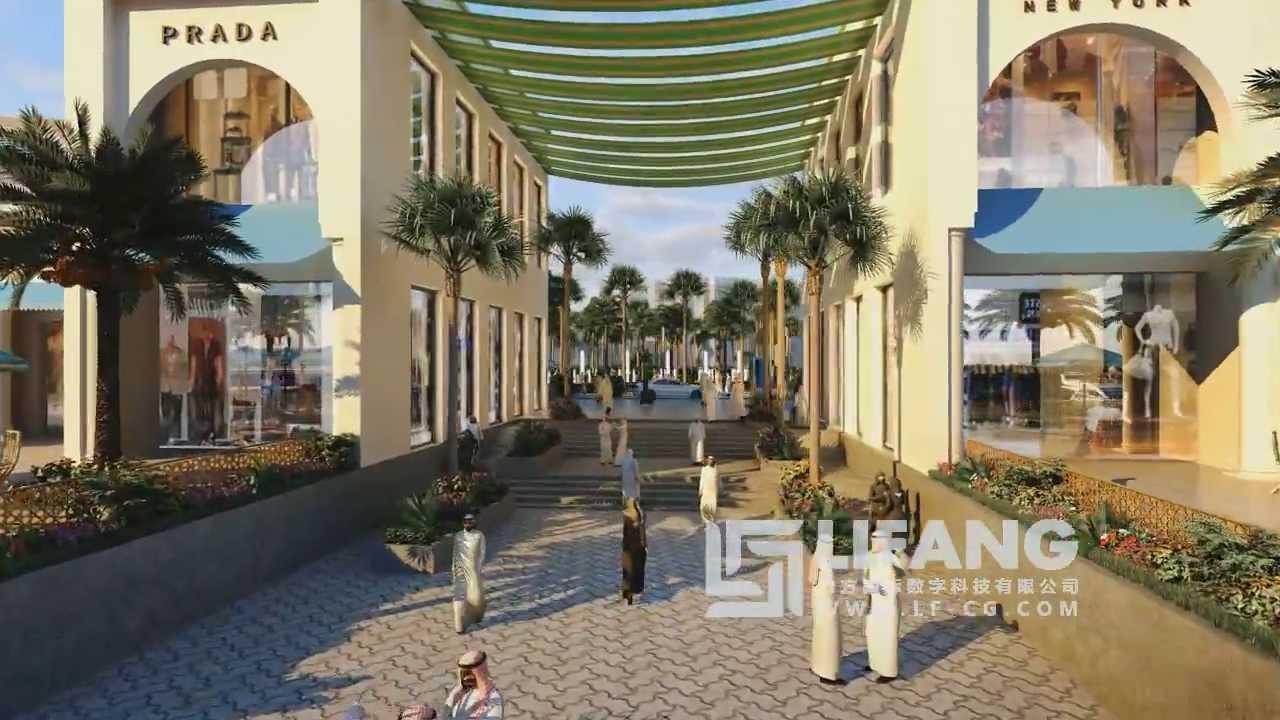 Jeddah Waterfront development architectural CGI animation