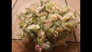 ПОСТимся вкусно! Вкуснючий овощной салат с печеной картошкой!