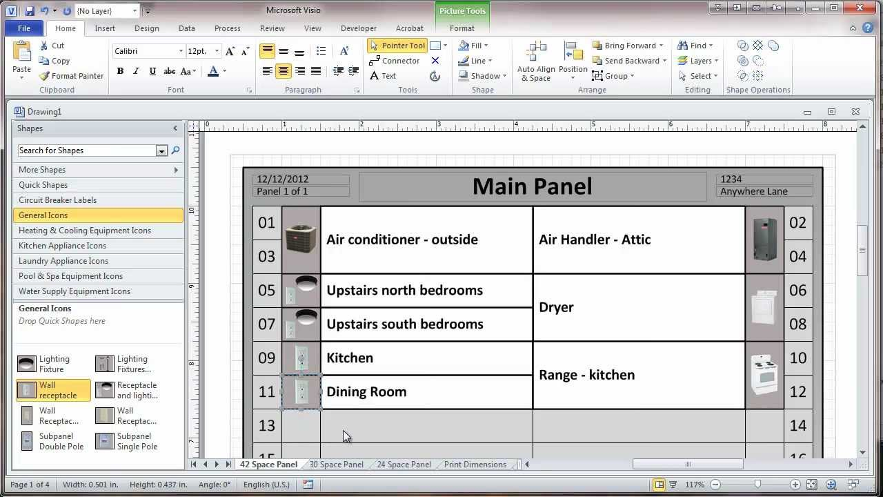 image about Printable Circuit Breaker Directory referred to as Circuit Breaker Listing Template. shade coded circuit