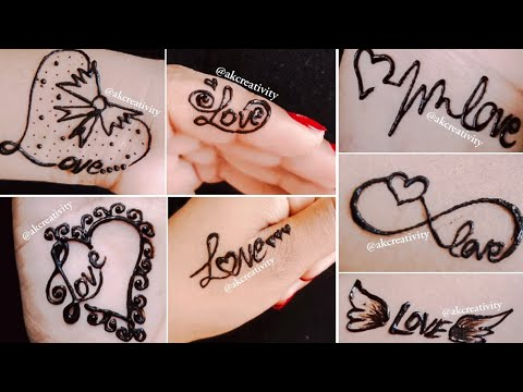 7 Beautiful Love Tattoo Ideas|| Love Tattoo Mehndi Designs