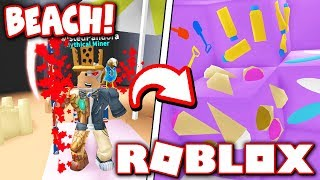 FINDING ALL ORES IN *NEW* BEACH WORLD in MINING SIMULATOR!! (Roblox)