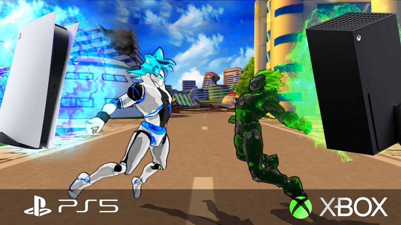 GoStation 5 (PlayStation 5) and Vegebox (Xbox) FUSION   NEXT GEN CONSOLE WAR   DBZ Tenkaichi 3 (MOD)