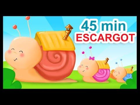 Petit escargot et 45 min de comptines à gestes et chansons pour bébés