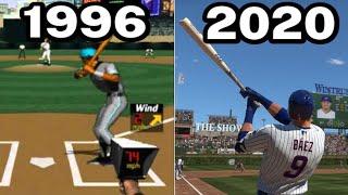 Graphical Evolution of MLB/MLB: The Show (1996-2020)
