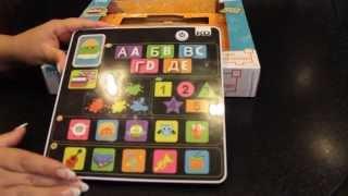 Детский планшет для самых маленьких Tech-Too/Изучение букв,цифр,цвета +английский язык/Учим играя