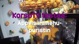 KorsoTV testaa: Tuorepuristettu appelsiinimehu