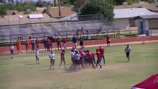 Isreal Araiza 7th Grade 2013  Top All American Youth Football Linebacker/Fullback - No Music