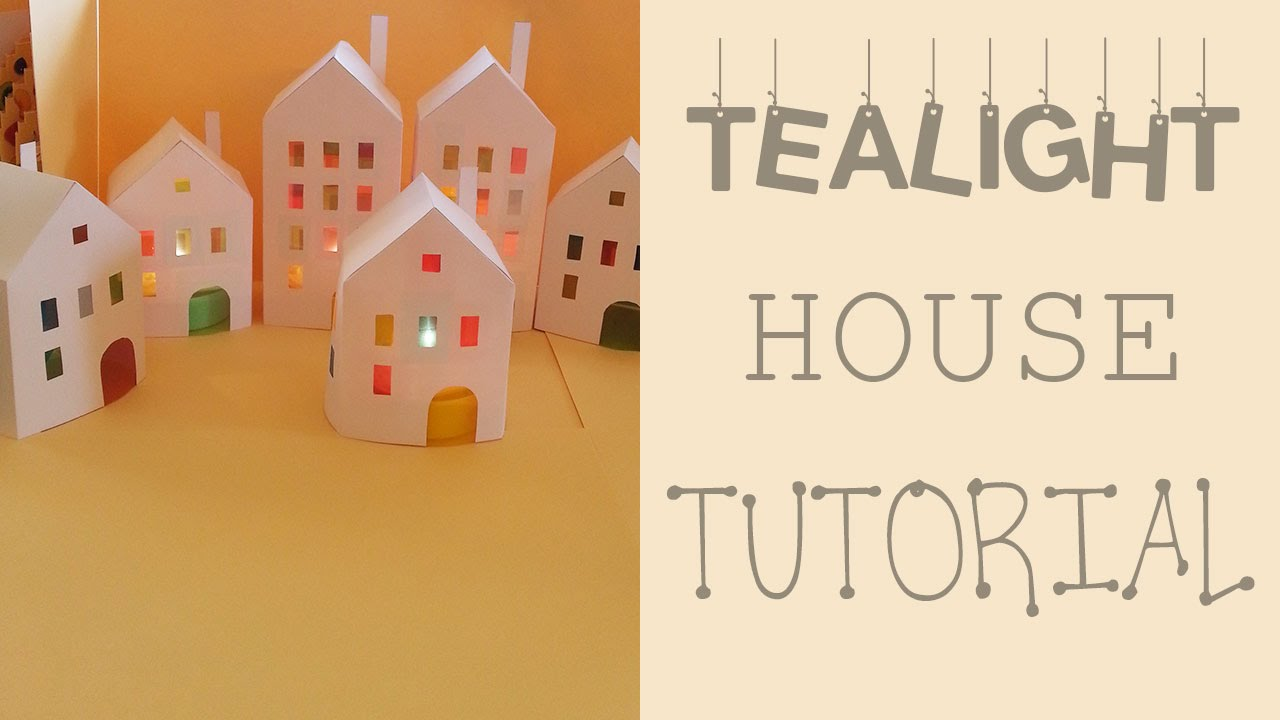 paper house lantern template  Tealight House Tutorial - Paper Lantern House