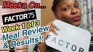 Factor 75 Meals Review: week 1