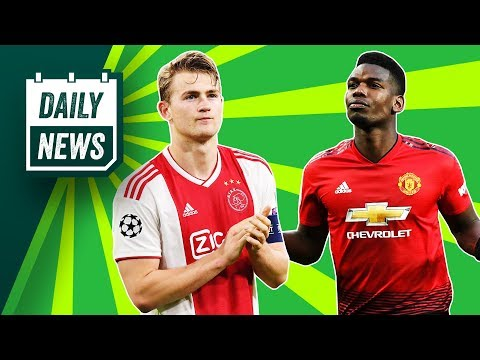 De Ligt to Barca almost DONE + United want CRAZY money for Pogba! ►Onefootball Daily News