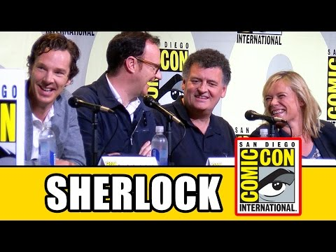 SHERLOCK Season 4 Comic Con Panel (Part 1) - Benedict Cumberbatch, Mark Gatiss, Amanda Abbington