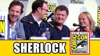 SHERLOCK Season 4 Comic Con Panel (Part 1) - Benedict Cumberbatch, Mark Gatiss, Amanda Abbington