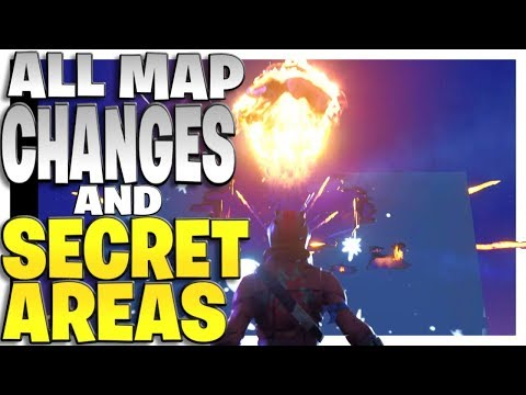 All Season 4 Map Changes And Secret Spots In Fortnite Battle Royale