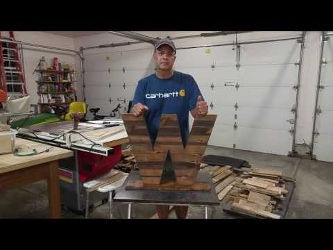 How to Make Pallet Wood Letters (W)