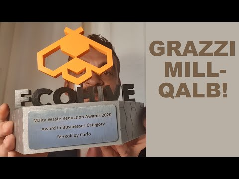 Malta Waste Reduction Awards 2020 - Award in Businesses Category - Rescoli by Carlo