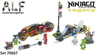 Lego Ninjago Legacy 70667 Kai´s Blade Cycle & Zane´s Snowmobile - Lego 70667 Speed Build