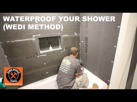 How to Waterproof a Shower (Wedi Method) -- by Home Repair Tutor
