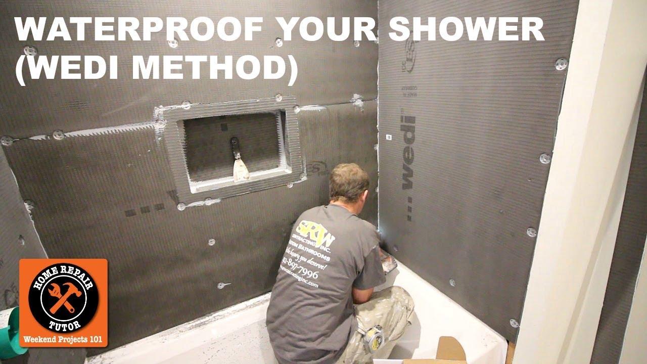 How to Waterproof a Shower Using Wedi StepbyStep  YouTube