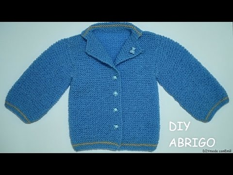 Abrigo o chaqueta para beb reci n nacido doovi - Tejer chaqueta bebe 6 meses ...