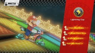 Mario Kart 8: 150cc Lightning Cup with Mario (3 Stars) + Credits