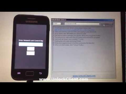 Instant Permanent unlock Samsung S7500 S6500 S6310 S6312