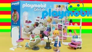 playmobil 5487 city life beauty salon 67 pieces unboxing