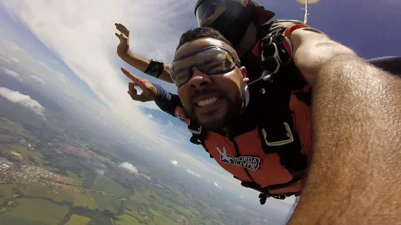 Salto de Paraquedas do Ailton C na Queda Livre Paraquedismo 29 01 2017