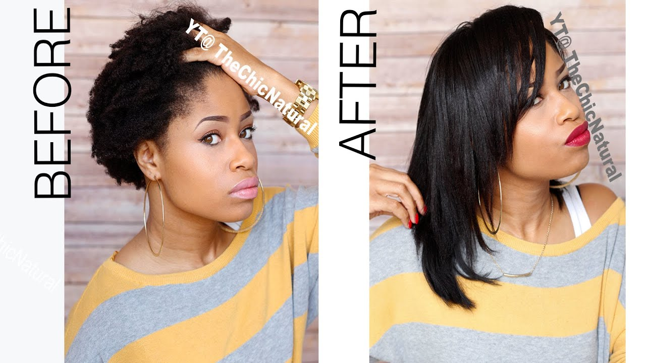 How To: Straightening My Natural Hair  YouTube