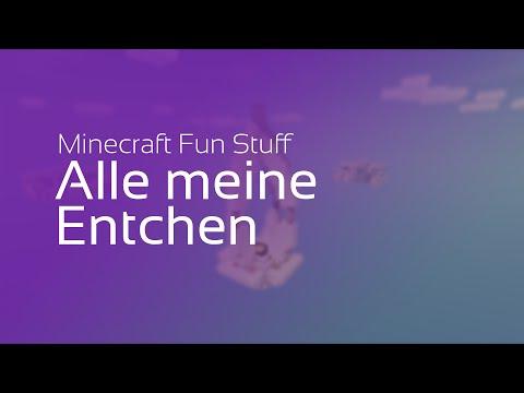 Minecraft - Alle meine Entchen mit Notenblöcken