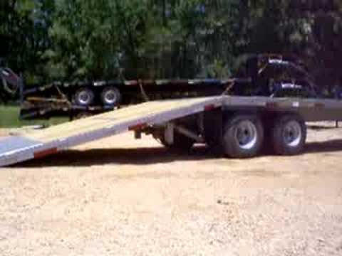 Load Max Trailers >> Brute trailers old style Hydraulic Dovetail Trailer - YouTube