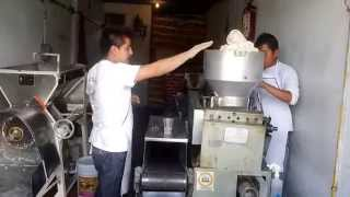 fresh tortillas first batch off the machine