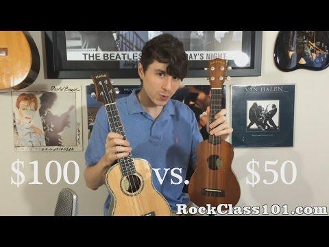$50 Soprano Ukulele vs $100 Concert Ukulele
