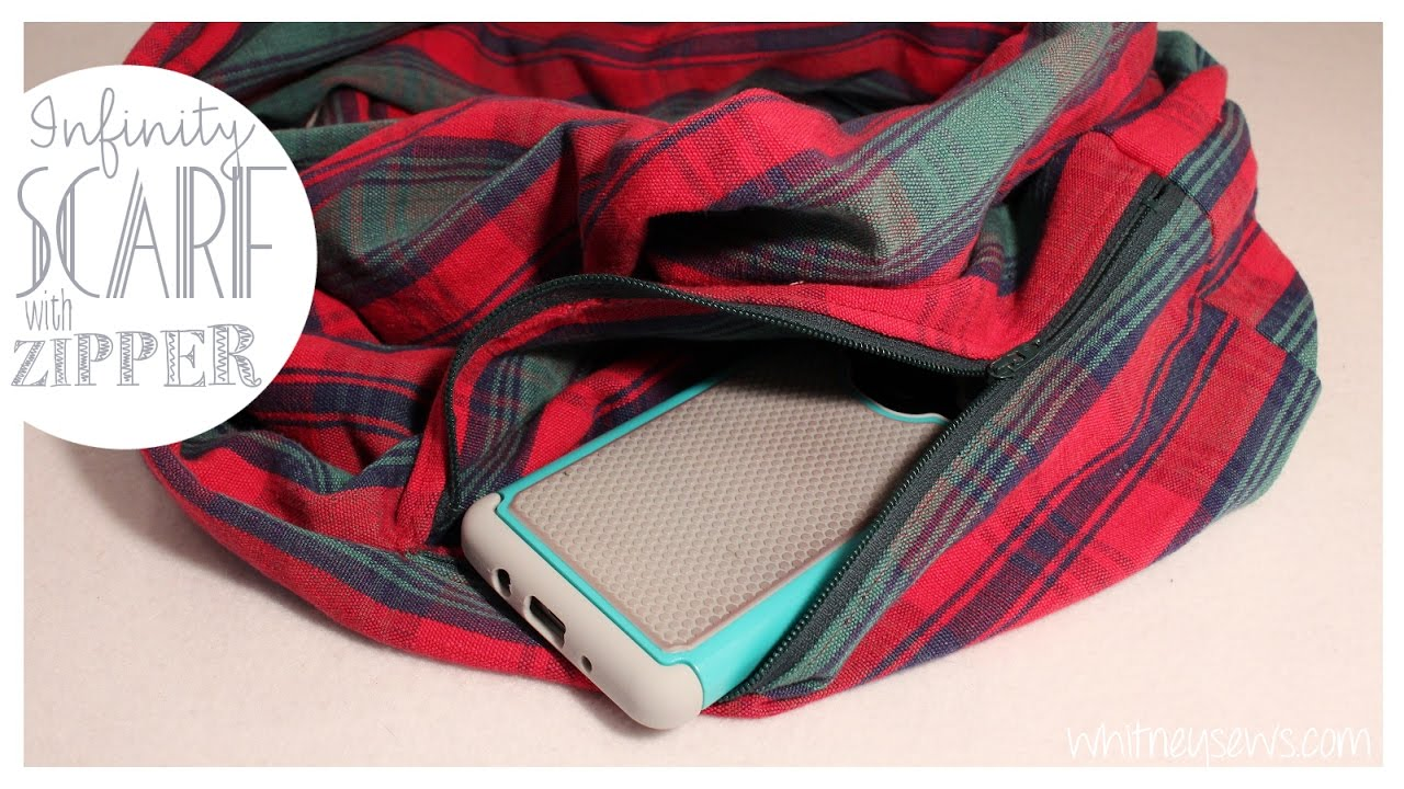 Infinity Scarf With Hidden Pocket | EASY How to | Whitney ...