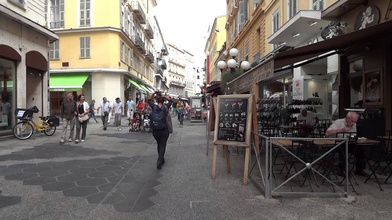 France Nice Streets With Restaurants Prices Round The World Trip