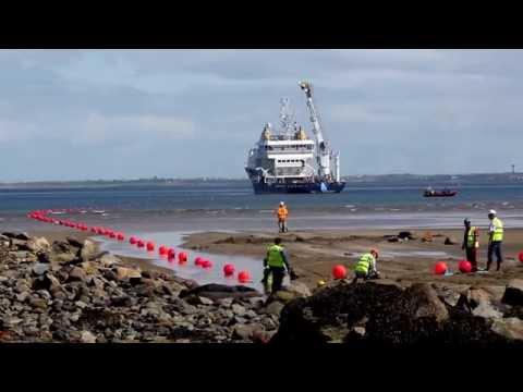Transatlantic Fibre optic cable linking the US to Ireland
