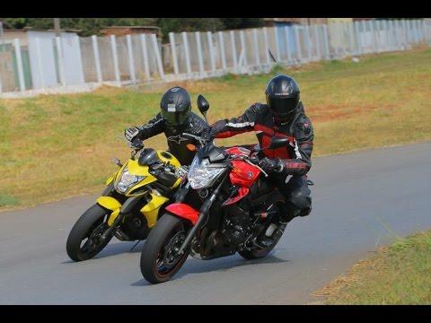 Yamaha Xj6n Vs Kawasaki Er6n Na Pista Youtube