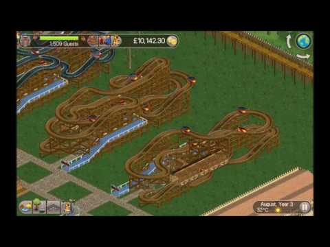 Roller Coaster Tycoon Classic - Coaster Tutorial (Crazy Castle)