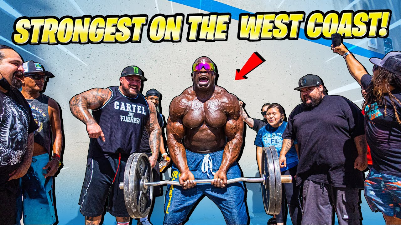 WHAT CAN THE STRONGEST MEN ON THE WEST COAST STRICT CURL?