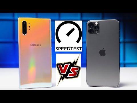 Samsung Galaxy Note 10 Plus VS IPhone 11 Pro Max Speed Test!