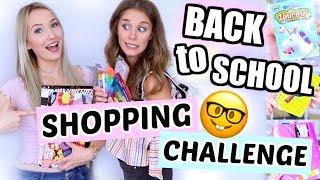 😱100€ SHOPPING CHALLENGE für Back to School! Wir müssen ALLES EINKAUFEN + VERLOSEN! ♡ BarbaraSofie